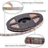 5m SMD LED RGB 5050 Impermeable Tira de luz con control remoto por infrarrojos adaptador de 12V