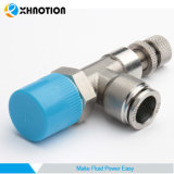 """Xhnotion SS316L 1/2"""" de controlador de velocidad de conexión en el actuador aire"""