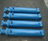 Único cilindro hidráulico telescópico de vários estágios ativo para o caminhão de descarga/reboque