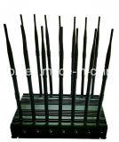14 de Stoorzender GSM/3G/4G Cellphone, GPS, WiFi, Lojack, 433MHz, de Stoorzender van antennes van het Signaal 315MHz; Ingebouwde 5 KoelVentilator 14 de Stoorzender/Blocker van het Signaal van Banden