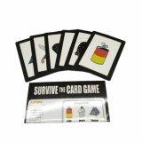 Frente y parte posterior de encargo personalizados venta al por mayor del juego de tarjeta impresa
