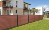 Clôture de bois composite de clôture de jardin en plastique
