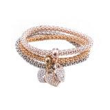 Monili a più strati del braccialetto del diamante a forma di di Zircon del cuore di modo
