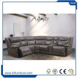 Viersitzer Unfoldable Form-Entwurfs-Italien-Brown modernes ledernes Sofa