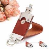 Couro 3.0 Micro USB OTG Unidade Flash Memory Stick 16GB