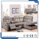 Jogo de canto de couro cheio do sofá da mobília da sala de visitas do sofá do estilo europeu moderno