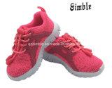 De Schoenen van de Kleur van Fushsia van meisjes met Licht Bovenleer Outsole In te ademen Flyknit