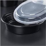 1000ml desechables de plástico redondo quitarle los recipientes de comida/caja de almacenamiento de alimentos con tapa
