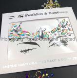 2018 Hongkong Топаз кожу безопасного Сторона наклейки глаз белого цвета шпильки органа ювелирных изделий с Tatto наклейки (E16)