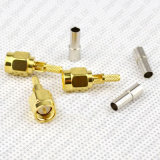 Friso reto do plugue masculino de conetor coaxial SMA do RF para o cabo de Rg316 Rg174 LMR100