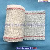 Bandage 100% élastique de Crepe de coton (C103)