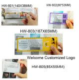 Magnifier di plastica della testa dell'obiettivo di formato da tasca della scheda personalizzato Hw-805A 6X