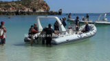 Opblaasbare Boten van de Bodem van de Boot van de Rib van Liya de Stijve met BuitenboordMotor