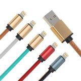 3.3 de 5V 2A FT de couro do plutônio cobriram o cabo do telefone de 8 Pin para o telefone de Samsung do iPhone