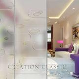 El Arte de vidrio esmerilado de entramado /Grabado Ácido Arte de vidrio