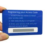 Cartão de chamada feito sob encomenda do telefone do risco do presente de Plastic/PVC com código de barras