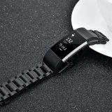 Correa de reloj de reemplazo para Cargar 2 Stainlese Fitbit steel band