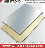 samengestelde Comité van het Aluminium van 4mm het Zilveren Geborstelde voor de BuitenBekleding van de Muur