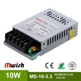 10W regelte Minigröße SMPS DC3.3V 3A Stromversorgung mit RoHS Cer-Bescheinigung