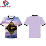 Mens 승화 셔츠 직물 t-셔츠를 인쇄하는 주문을 받아서 만들어진 t-셔츠