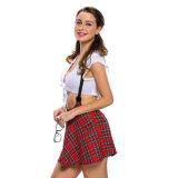 Sexy costume de partenaire d'étude d'écolière