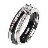 Anello di ceramica Wedding del Combine dei monili dell'argento sterlina 925