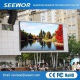 P10 haute résolution plein écran à affichage LED de couleur pour l'application extérieur fixe