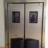 Hoja resistente a los choques del doble de la puerta del acero inoxidable de la puerta de oscilación