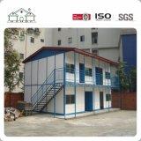El hogar modular prefabricado del marco de la estructura de acero de la luz de los paneles de emparedado/el edificio vivo móvil/prefabricó la casa