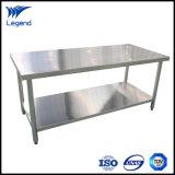 Tabella di lavoro resistente dell'acciaio inossidabile da 8 FT con la mensola di sotto