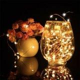 Luz colorida de la cadena del alambre de cobre del LED para la decoración