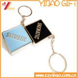 Изготовленный на заказ старт Keychain/Keyring/ключевой держатель зеленого цвета эмали металла (YB-HD-192)