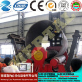 Control CNC cuatro rodillos de la hoja de acero de flexión de la placa de Máquina laminadora