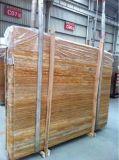 Травертина Золотой мраморный полированный плитки&слоев REST&место на кухонном столе