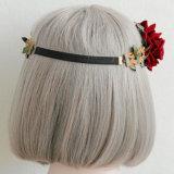 결혼식을%s 도매 고품질 빨간 로즈 꽃 화환 머리띠