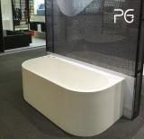 Parede luxuosa do projeto de Italy de encontro qualidade superior moldada da banheira de canto de pedra à boa