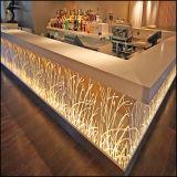 Dessins et modèles LED 150 sortes Accueil coin commercial luxueux comptoir de bar