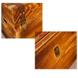 Customized Size Natural Ancient Wooden Gift Box Wine Box
