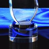 Trofeo de cristal con forma de ala Grammy logotipo grabado de vidrio o palabras Trofeo de la Copa de la liga de deportes recuerdos Premio Campeón