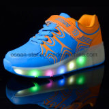 Zapatos de la rueda de luz LED Cool Roller Shoes Zapatillas Heelys zapatos