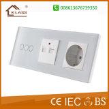 Couleur blanche + 2G 13A de gros commutateurs électriques Socket