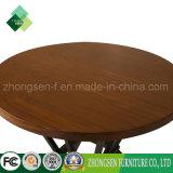 Mesa de centro redonda de madeira barata de venda superior do aço inoxidável