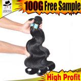 La prolonge brésilienne de cheveu est le cheveu 100% de Remy de Vierge
