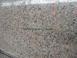 タイルのための磨かれたの中国ピンクの花こう岩の石の平板
