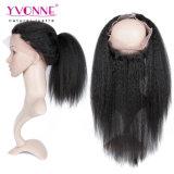 360正面ねじれたまっすぐな人間の毛髪を搭載する加工されていないブラジルの毛