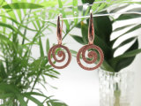 Goldkreis-Vortical hängende Ohrringe der Soemrhinestone-Schmucksache-14K/18K Rose mit Zircon-Stein