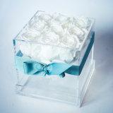 優雅なローズボックスギフト9のばらのアクリルの花ボックス