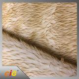 100%年のポリエステル自動内部の家具製造販売業のための柔らかい子ヒツジのウールの偽造品の毛皮/のどの毛皮ファブリック