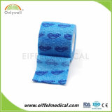Fabrik-Veterinärselbstklebriger bunter elastischer zusammenhängendverband