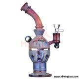Hbking amerikanisches Entwurfs-Kolben-Recycler-Filtrierapparat-Ölplattform-Glas-rauchende Wasser-Rohr-Glas-Kunst